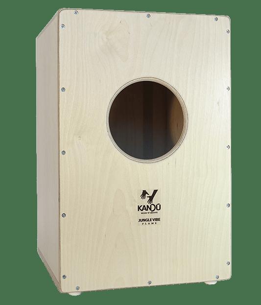 Jungle Vibe Flame Cajon – K3 – Fine Zebrano